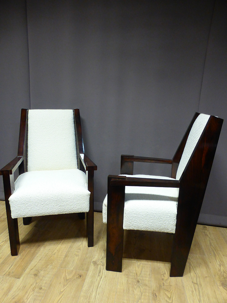 PAIR OF ART  DECO PERIOD ARMCHAIRS
