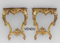 PAIR OF LOUIS XV STYLE CONSOLE TABLES