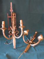 PAIR OF LOUIS XVI STYLE WALL LIGHTS