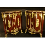 Pair of French Regence Cabinet Corners