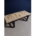 COFFEE TABLE SIGNED CAPRON  R.