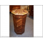 octagonal bedside table in plum tree 19h C