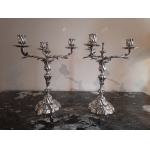 PAIR OF LOUIS XV STYLE CANDELABRA