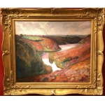 DETROY Léon French school Fauve Painting beginning XXTh century Crozant school Oil on canvas signed View of France Valley of the Creuse