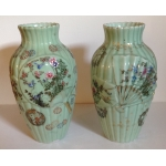 PAIR OF  CERAMIC VASES