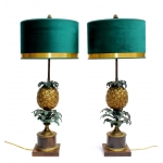 PAIR OF PINEAPPLE LAMPS by CHARLES