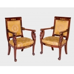 FRENCH EMPIRE PERIOD ARMCHAIRS