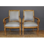 PAIR OF LOUIS PHILIPPE PERIOD ARMCHAIRS