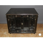 Antwerp Travel Cabinet In Ebony And Blackened Wood XVII