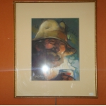 PASTEL SIGNED LOUIS FORTUNEY