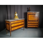 LOUIS XVI PERIOD SECRETAIRE AND CHEST OF DRAWERS