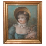 19th C PASTEL PORTRAIT