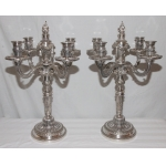 PAIR OF CANDELABRA