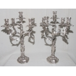 PAIR OF CANDELABRA signed MORLOT