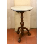 19th C SMALL WALNUT PEDESTAL