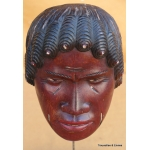 CARVED HEAD OF A CHIEF BAHA FROM THE MARQUISES ISLANDS