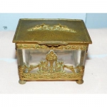 Saint Louis Ou Baccarat box Jewelery box In Cut Crystal Bronze Frame Empire Period Charles X early nineteenth 19th napoleon napoleon