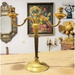 Beautiful Candlestick Period XIX Gilt Bronze candlesticks torch