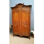 Normandy armoire carved with roses