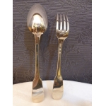 PAIR OF CHRISTOFLE SPOONS AND FORKS