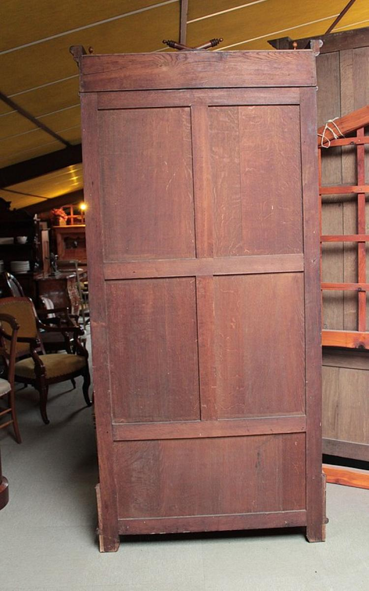 armoire in maple and cherrywood antiquites lecomte
