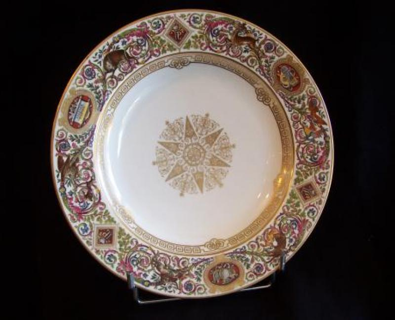 Plate service of Louis Philippe hunting chateau of Fontainebleau....