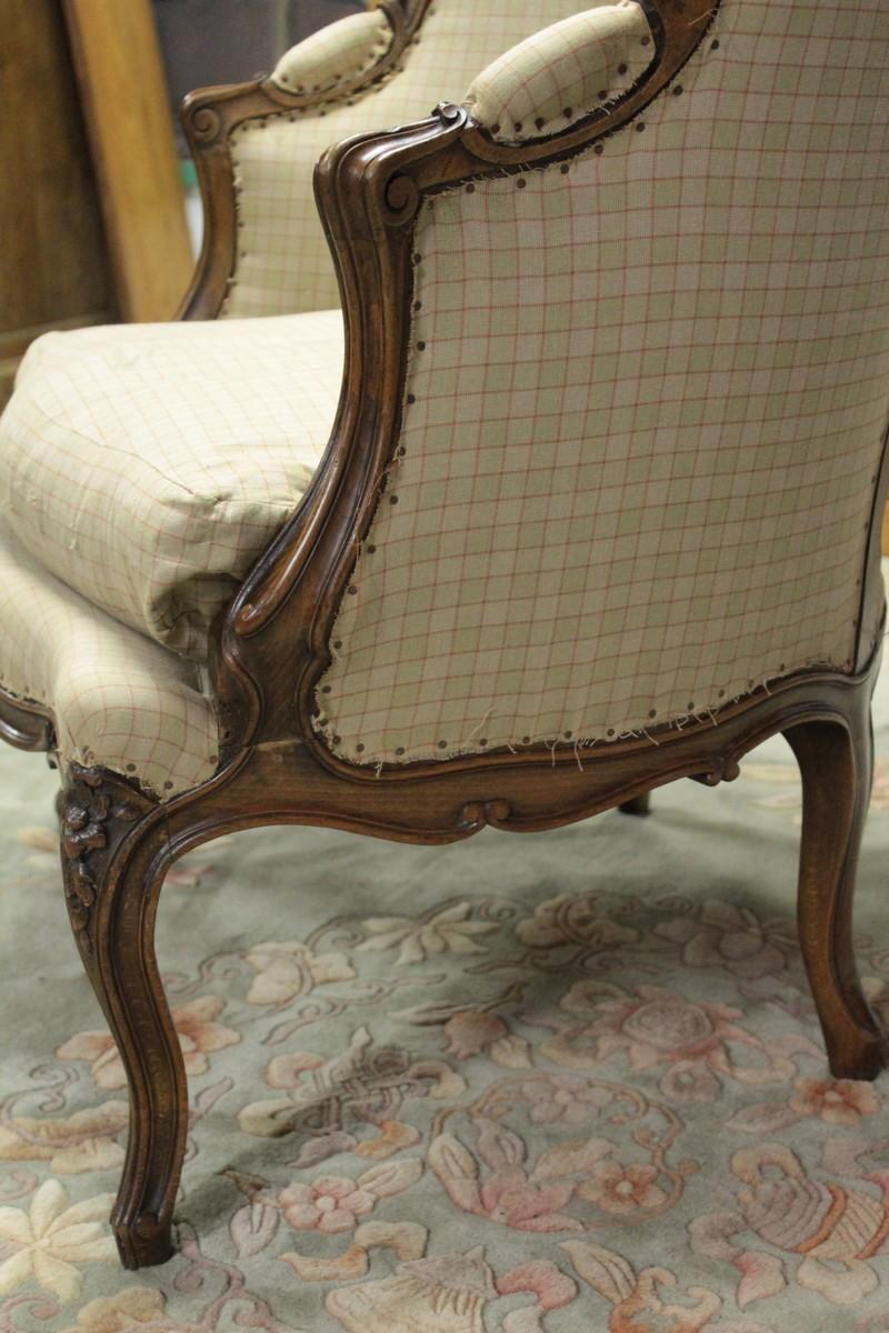 Louis Xv Style Armchair Antiquites Lecomte
