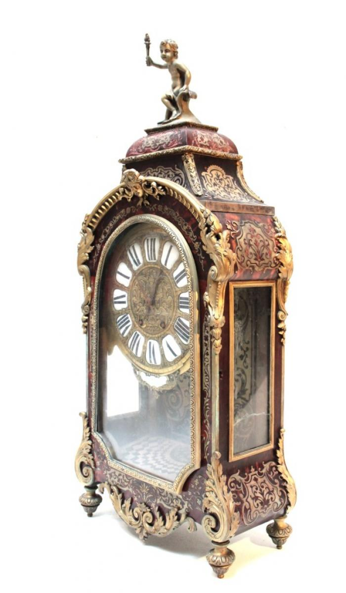 Louis Xv Style Clock With Matching Wall Shelf Galerie