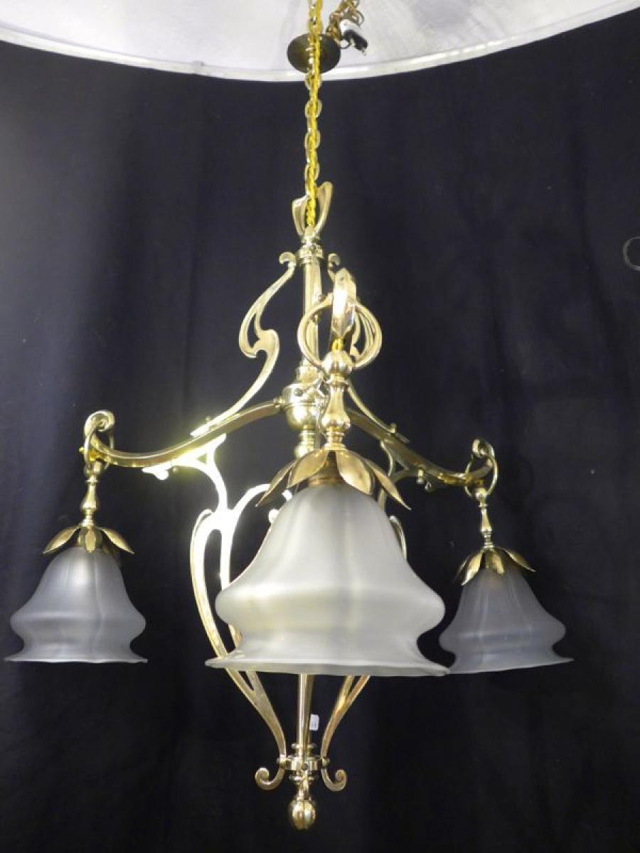 Chandeliers Art Nouveau Antiques In France