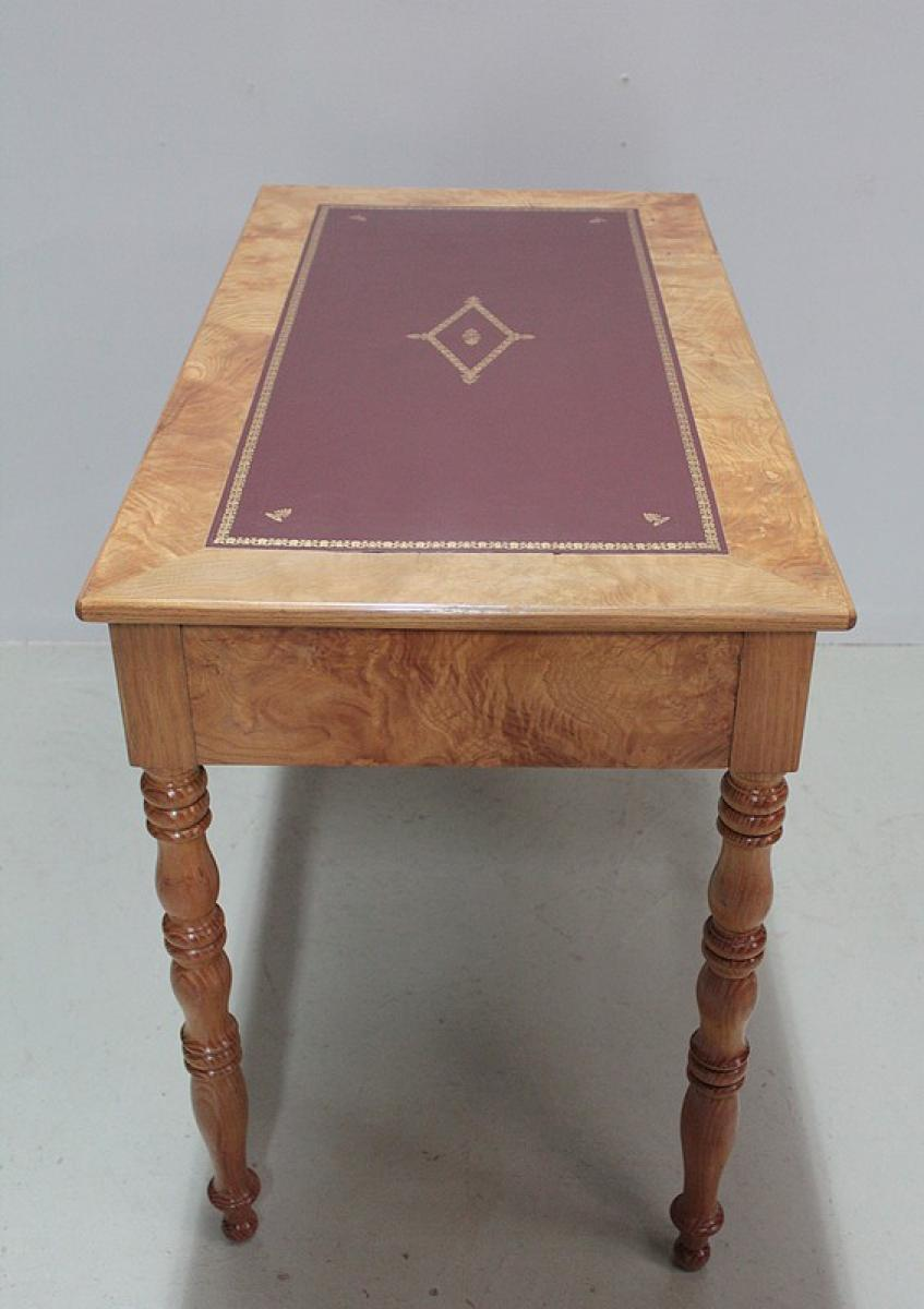 Louis philippe period writing table antiquites lecomte for Table louis philippe