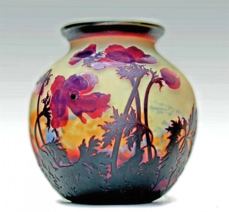 Vase By Muller Freres Luneville Galerie Tramway