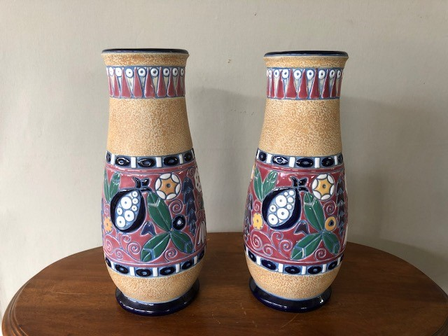 PAIR OF ART DECO PERIOD VASES