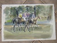 WATERCOLOUR SIGNED FANTOU