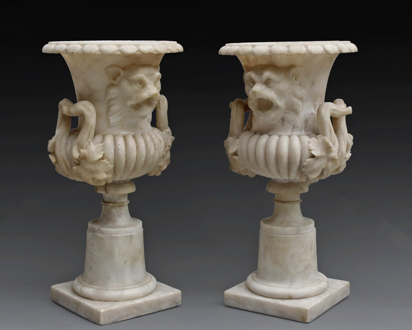 PAIR OF VASES CONVERTED INTO LAMPS