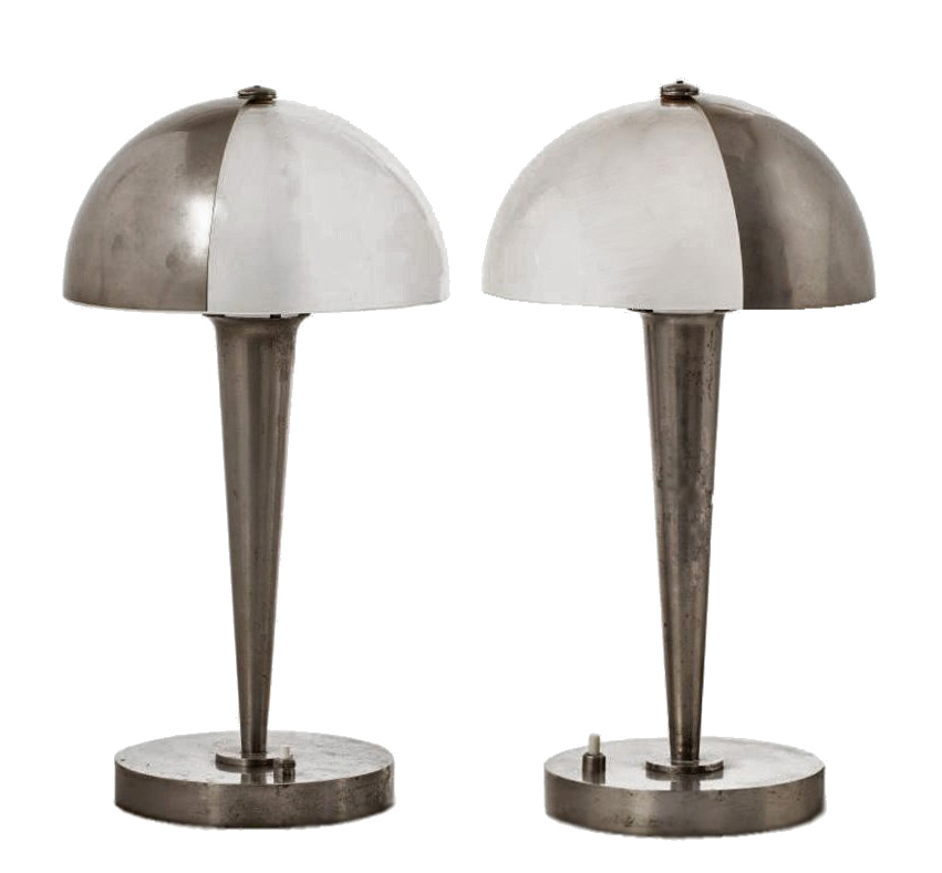 PAIR OF ART DECO PERIOD LAMPS by Jean Perzel (1892-1986)