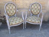 Pair of armchairs of Louis XVI style