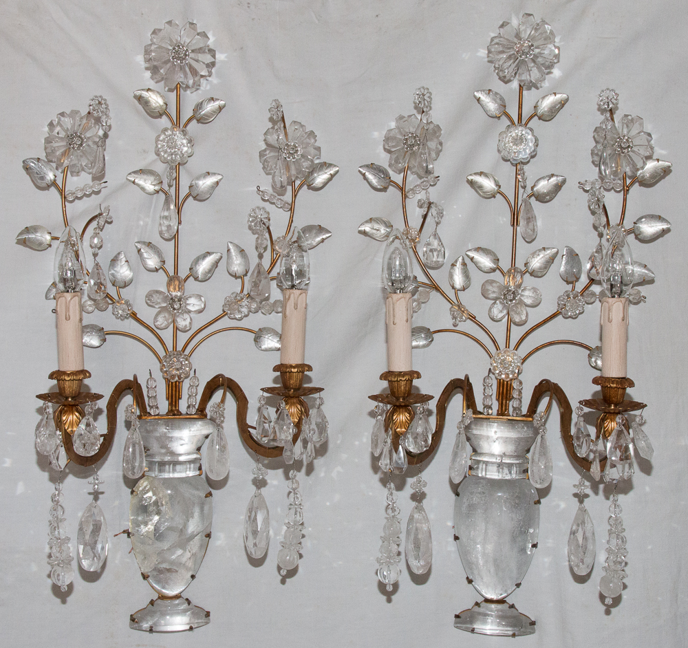PAIR OF BAGUES WALL LIGHTS