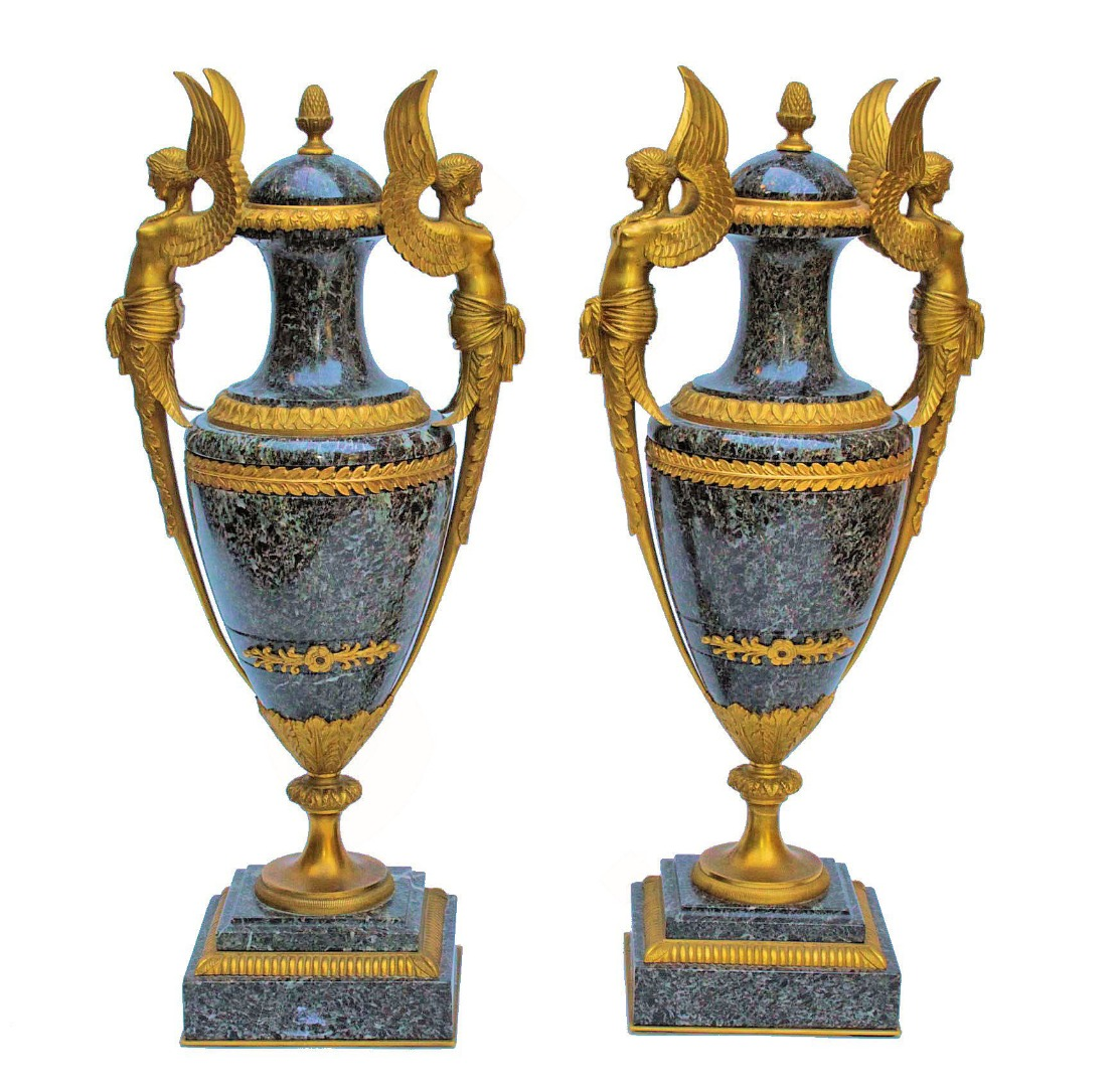 PAIR OF 19th CENTURY VASES
