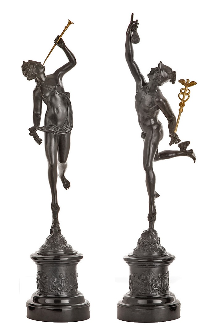 19th CENTURY BRONZE SCULPTURES by Jean de Bologne (1529–1608)