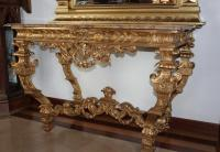 Louis Xiv Style Giltwood Console Table Antiquites Lecomte