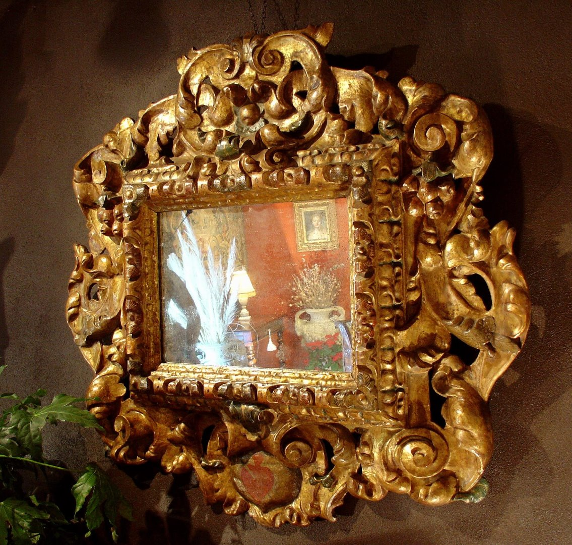 17th spanish baroque mirror