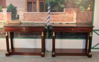 PAIR OF EMPIRE PERIOD CONSOLE TABLES