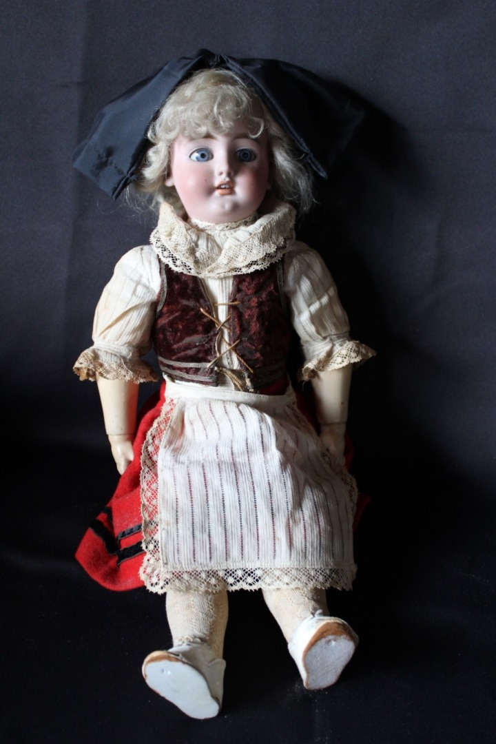 Porcelain Head Doll S & C Number 7