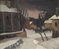 "Gaston ROBBE (Le Russey.1900- 1954) ""Square of Russey"""