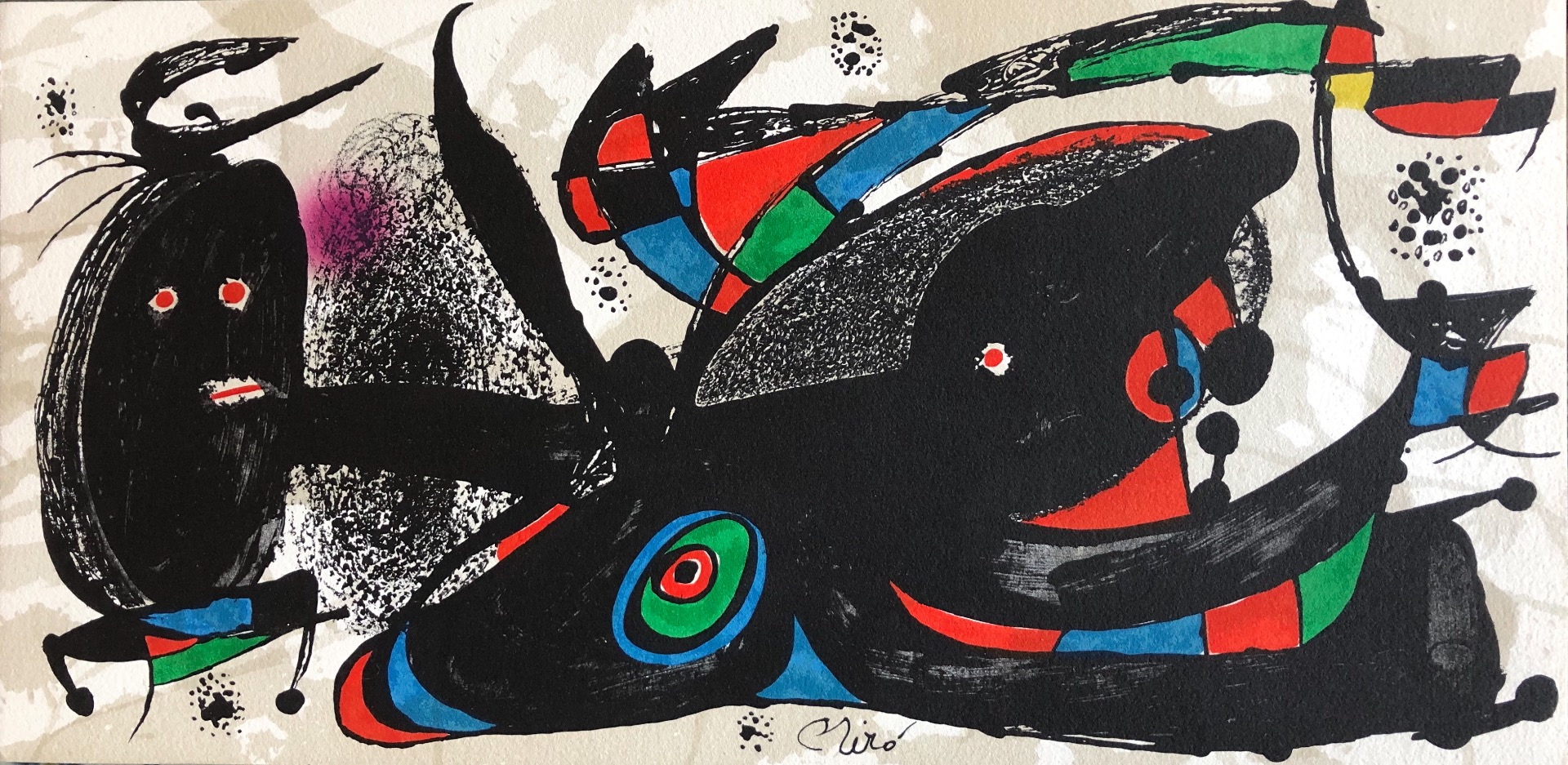 MIRO Joan Escultor Color lithograph signed