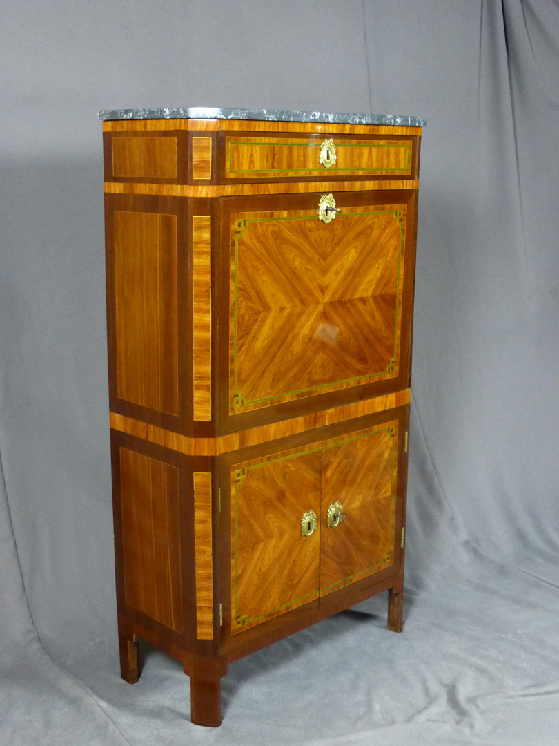18th CENTURY SECRETAIRE CHEST signed  POPSEL