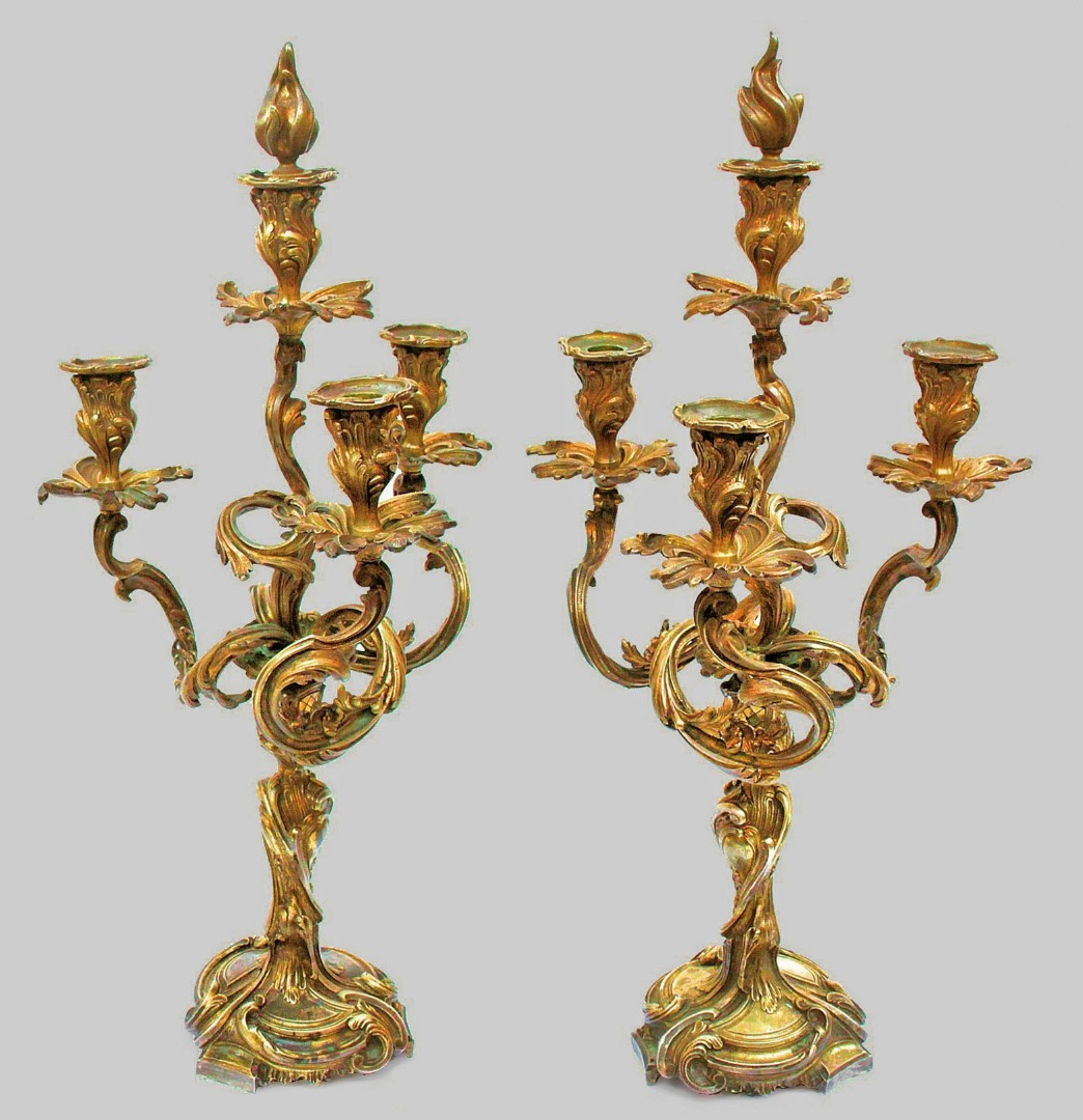 PAIR OF NAPOLEON III PERIOD CANDELABRA