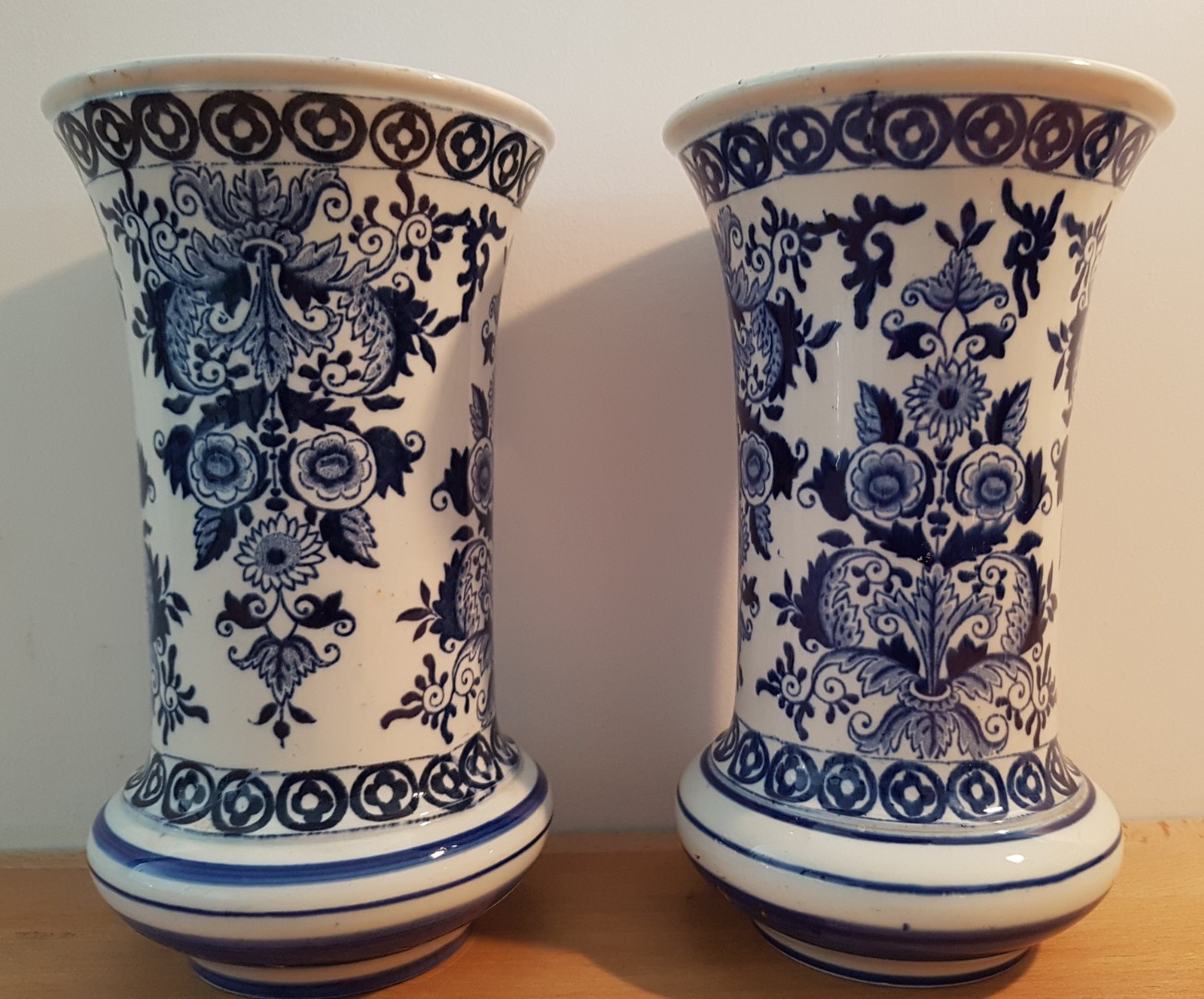 PAIR OF GIEN FAIENCE VASES