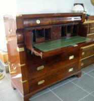 LARGE MAHOGANY MILITARY CHEST CAMPAIGN