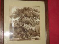 EARLY 19th C SEPIA WASHED DRAWING